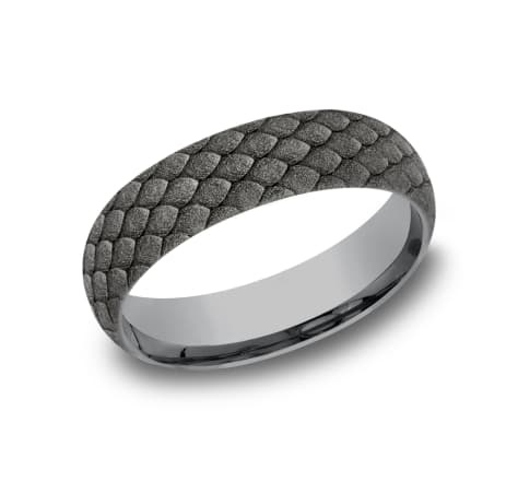 Benchmark 6MM Tantalum Dragon Scale Wedding Band