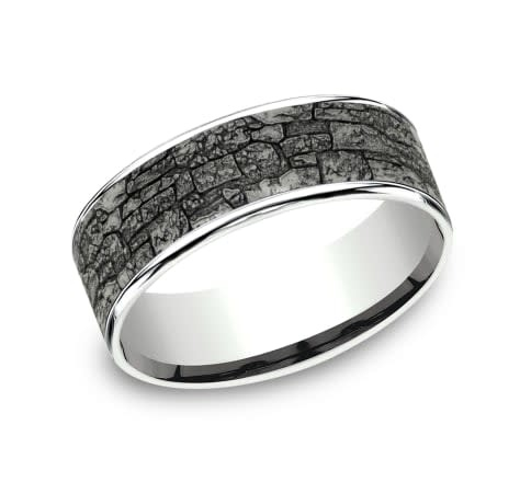 Benchmark 7.5mm Tantalum stone wall wedding band