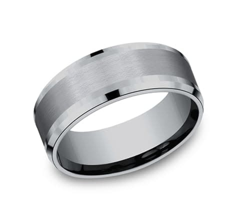 Benchmark 8mm Tantalum comfort fit satin wedding band
