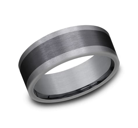 Benchmark 8MM Tantalum Mixed Metal Wedding Band