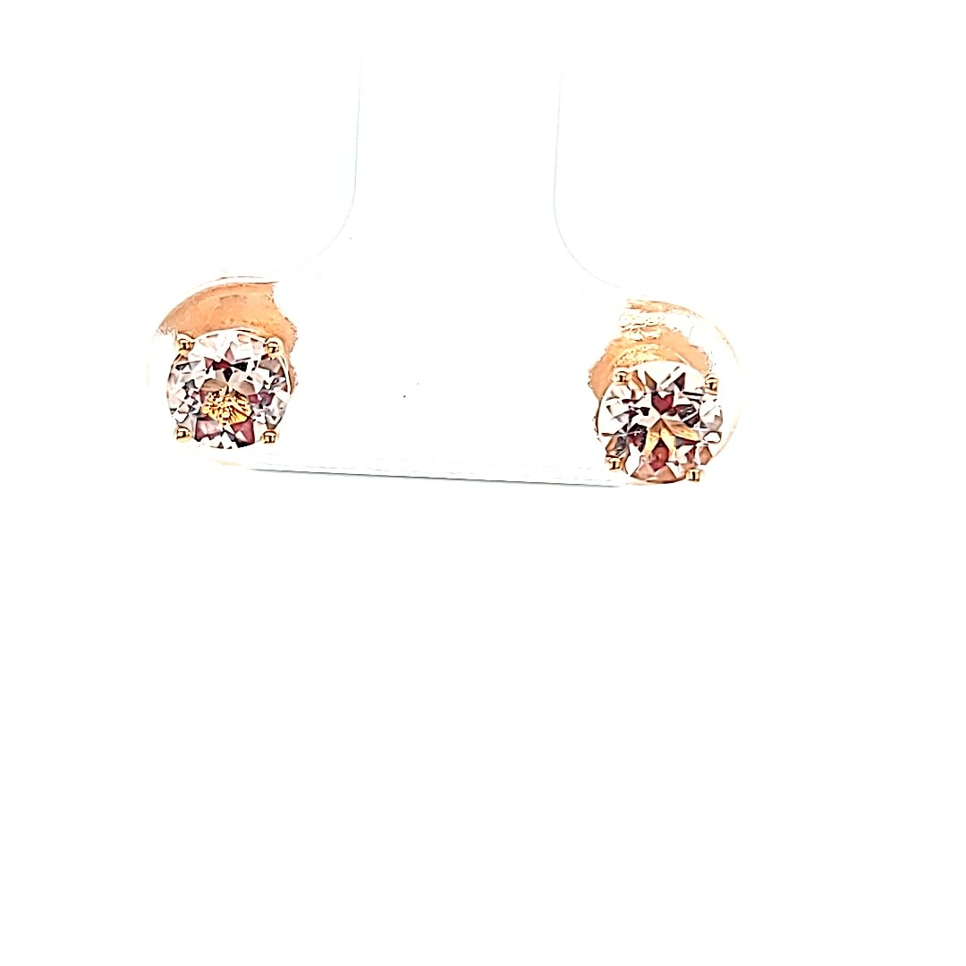 14KR .96CTTW Morganite Stud Earrings
