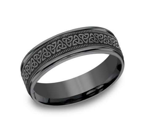 Benchmark 7mm Tantalum celtic wedding band