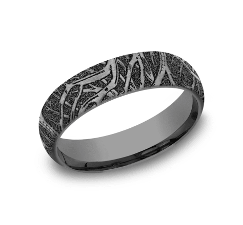 Benchmark 6mm Tantalum enchanted forest wedding band