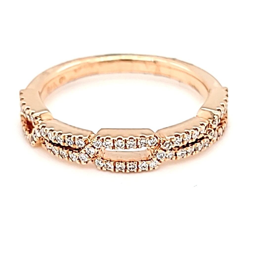 14KR  Chain Link Diamond Band