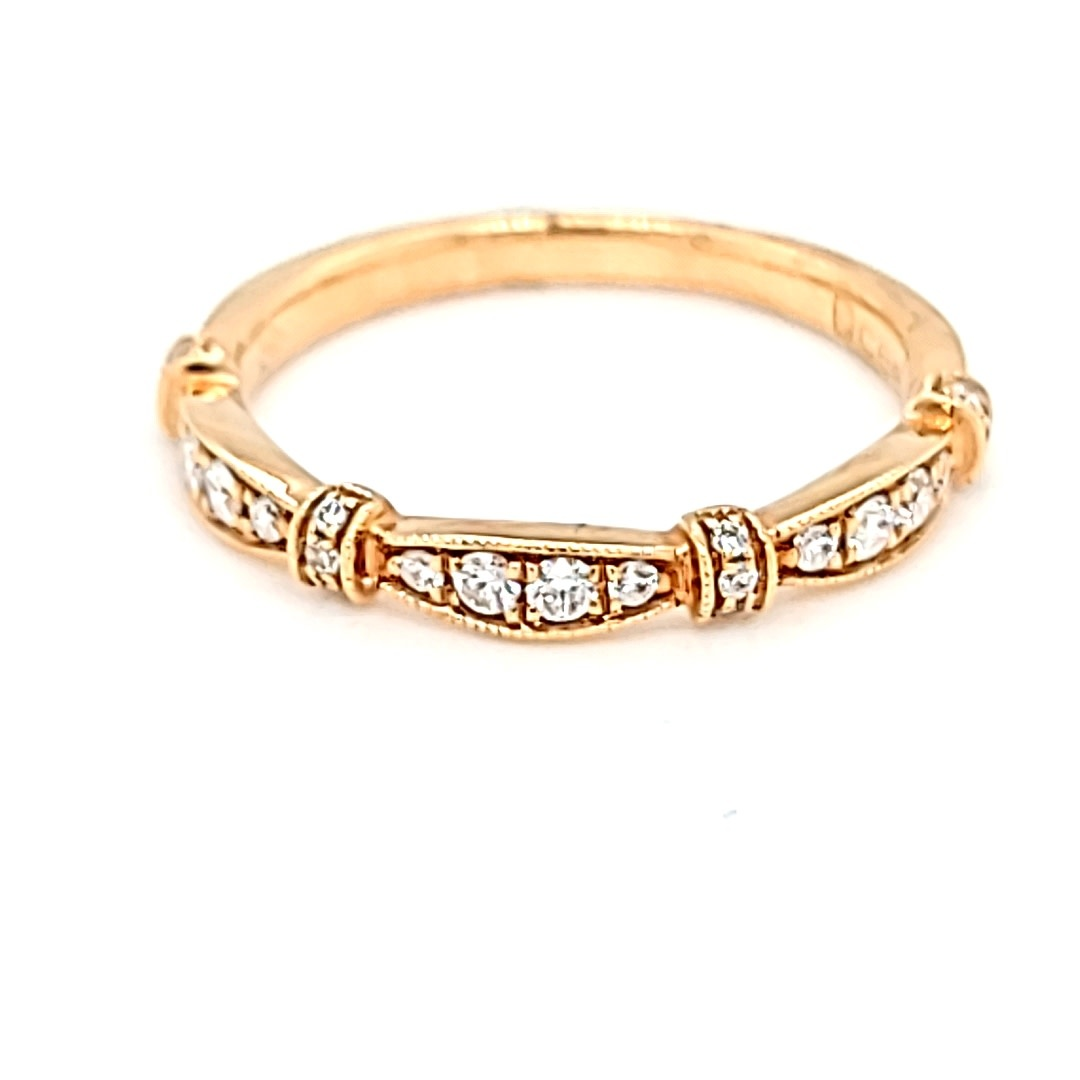 18KR Stackable Diamond Ring 0.20CTTW