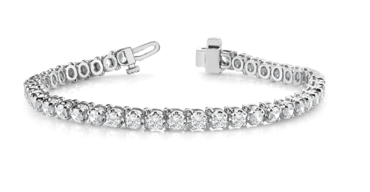 14kw 4.00CT Lab grown Diamond Tennis Bracelet