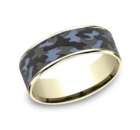 Benchmark 7.5mm Tantalum camouflage wedding band