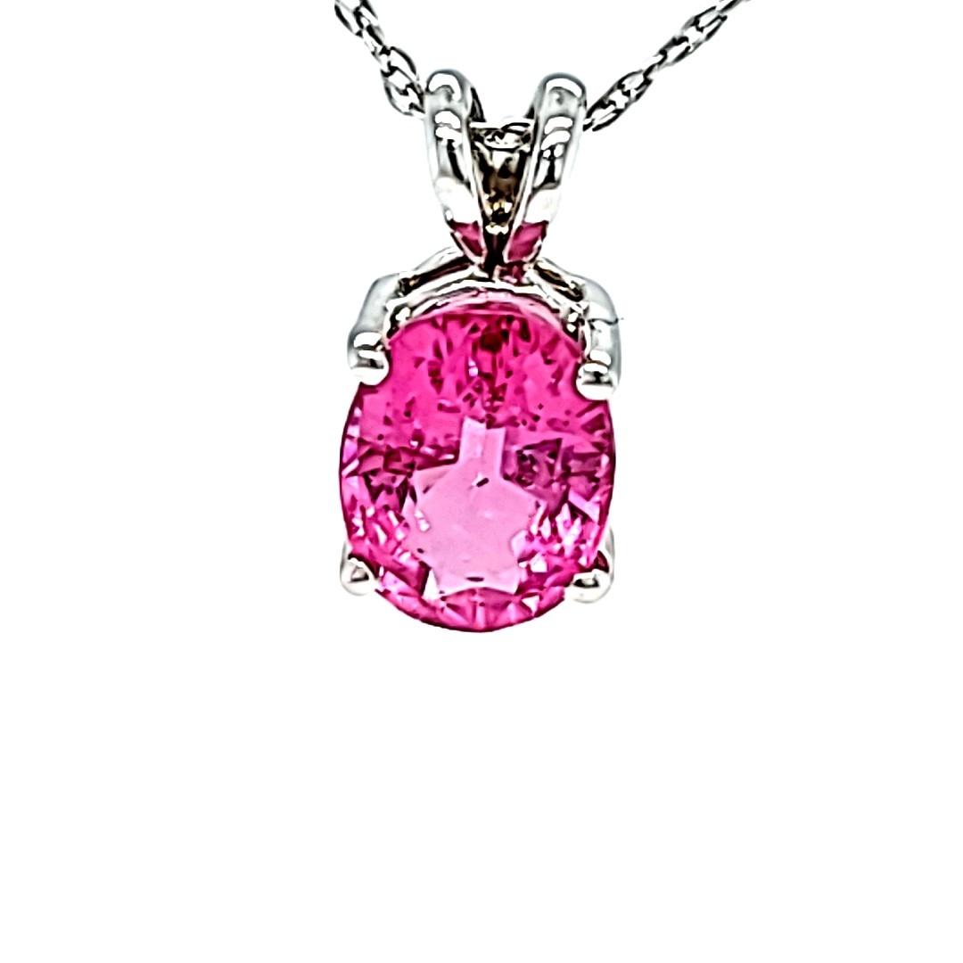 14KW 1.60CT Pink Tourmaline Pendant