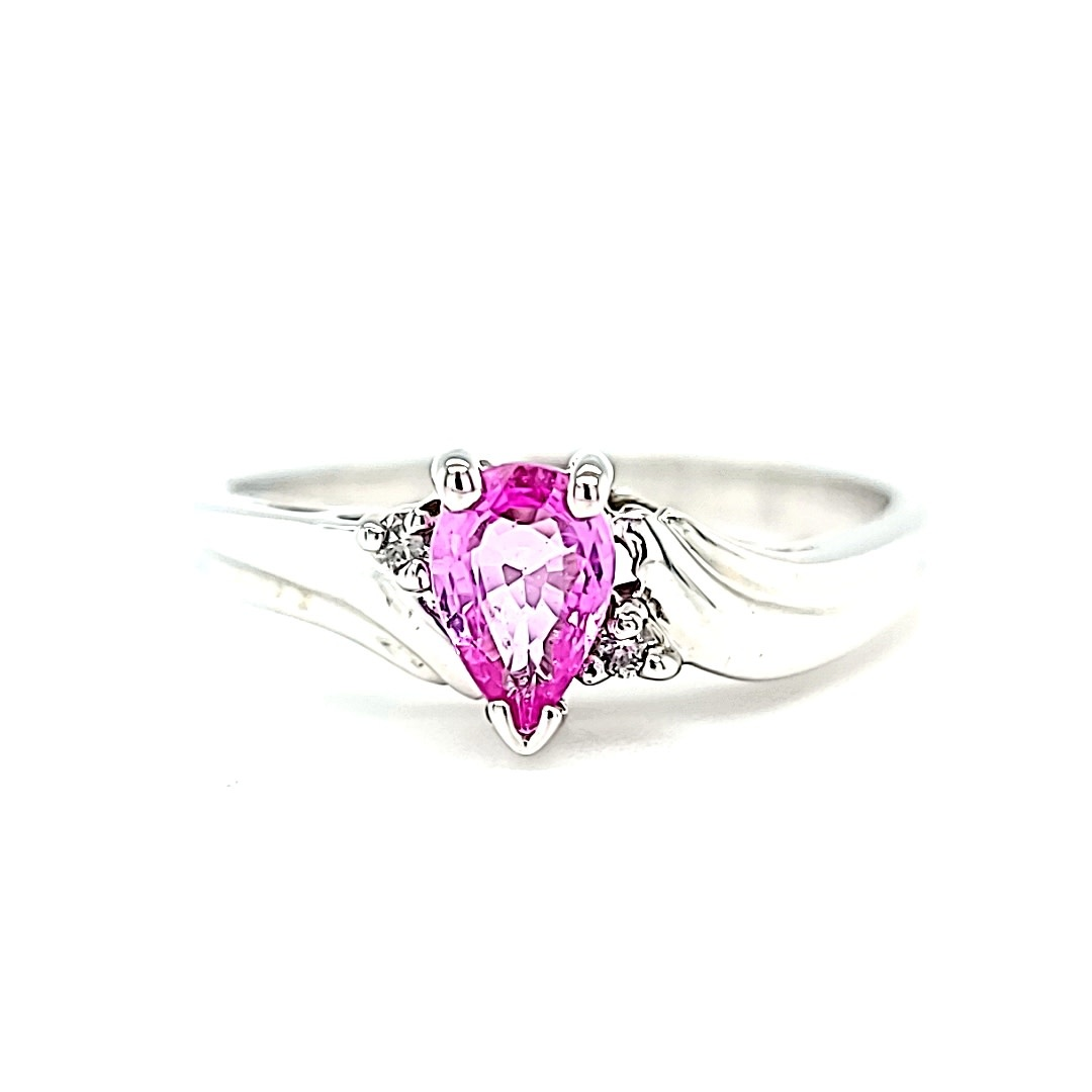 14KW Pink Sapphire Ring
