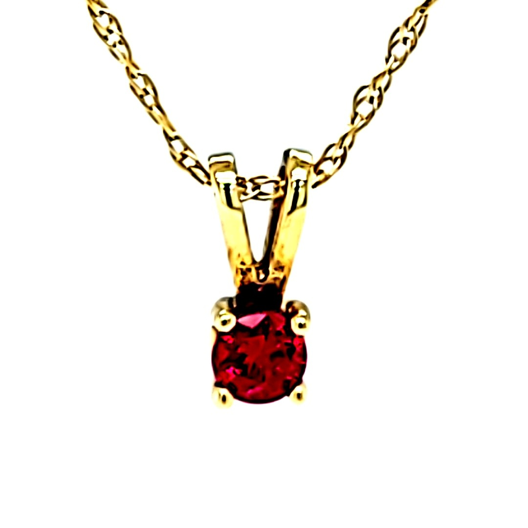 14KY 0.15CT AAA Ruby Pendant