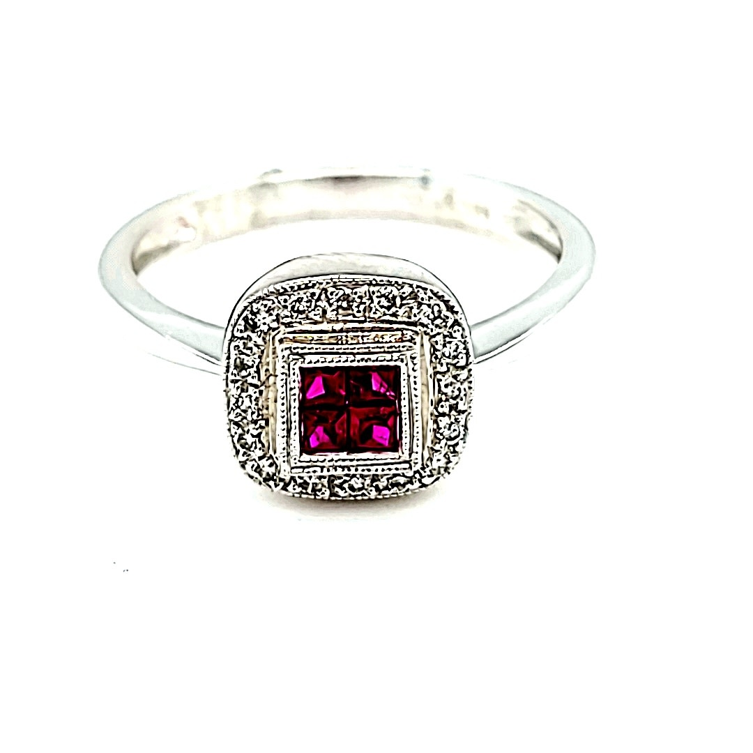 14KW Ruby and Diamond Fashion Ring