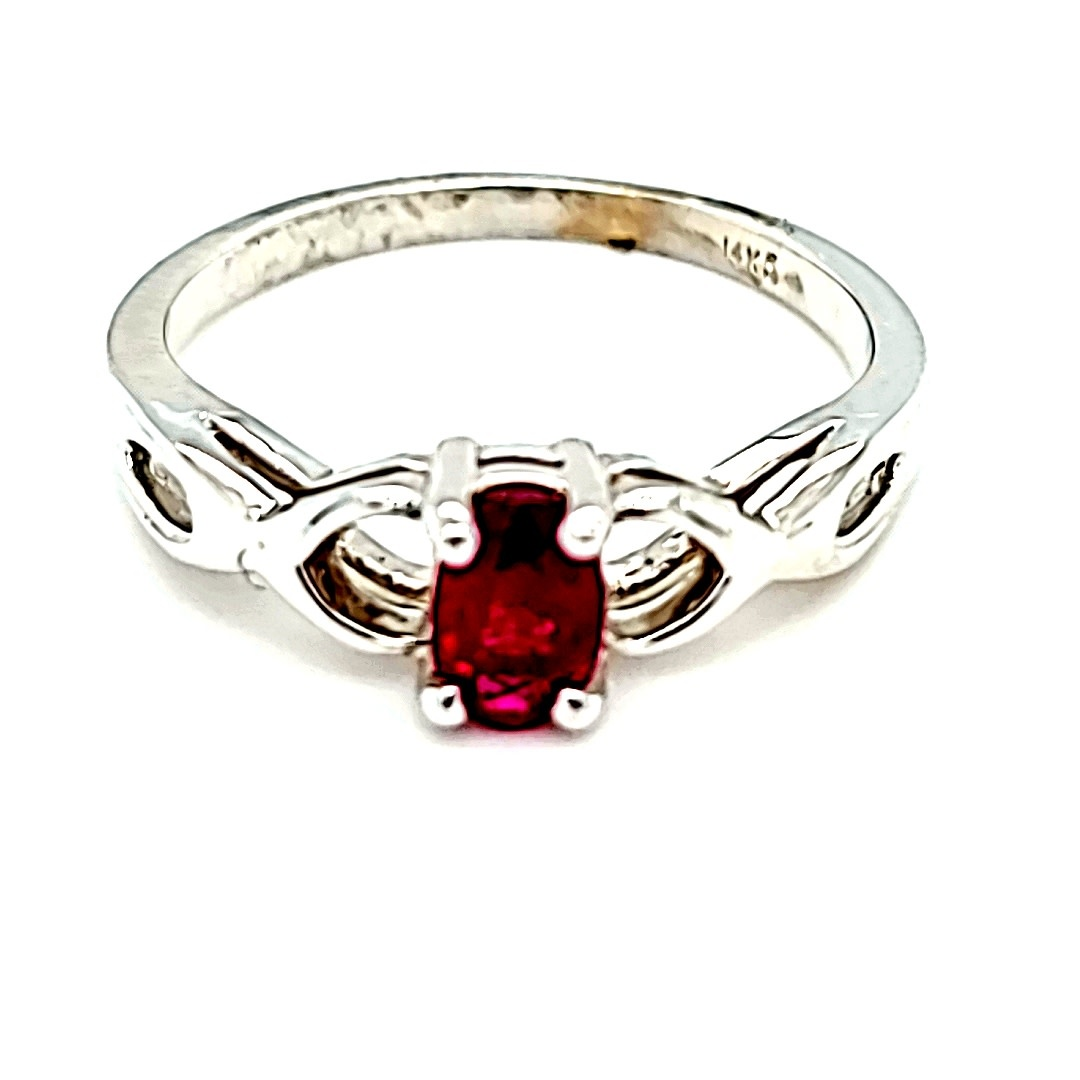 14KW Oval Ruby Fashion Ring