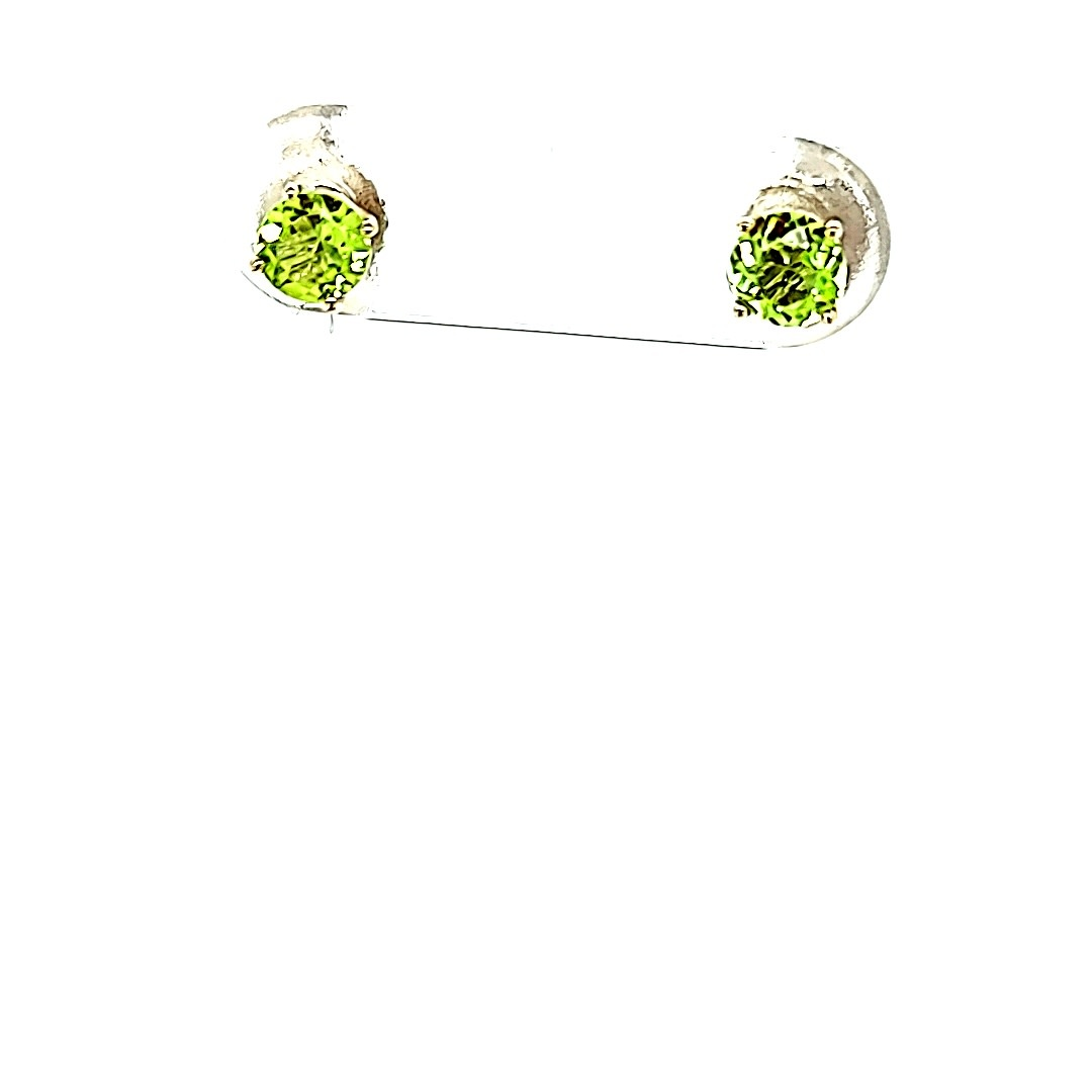 14KW 0.50cttw Round Peridot Stud Earrings