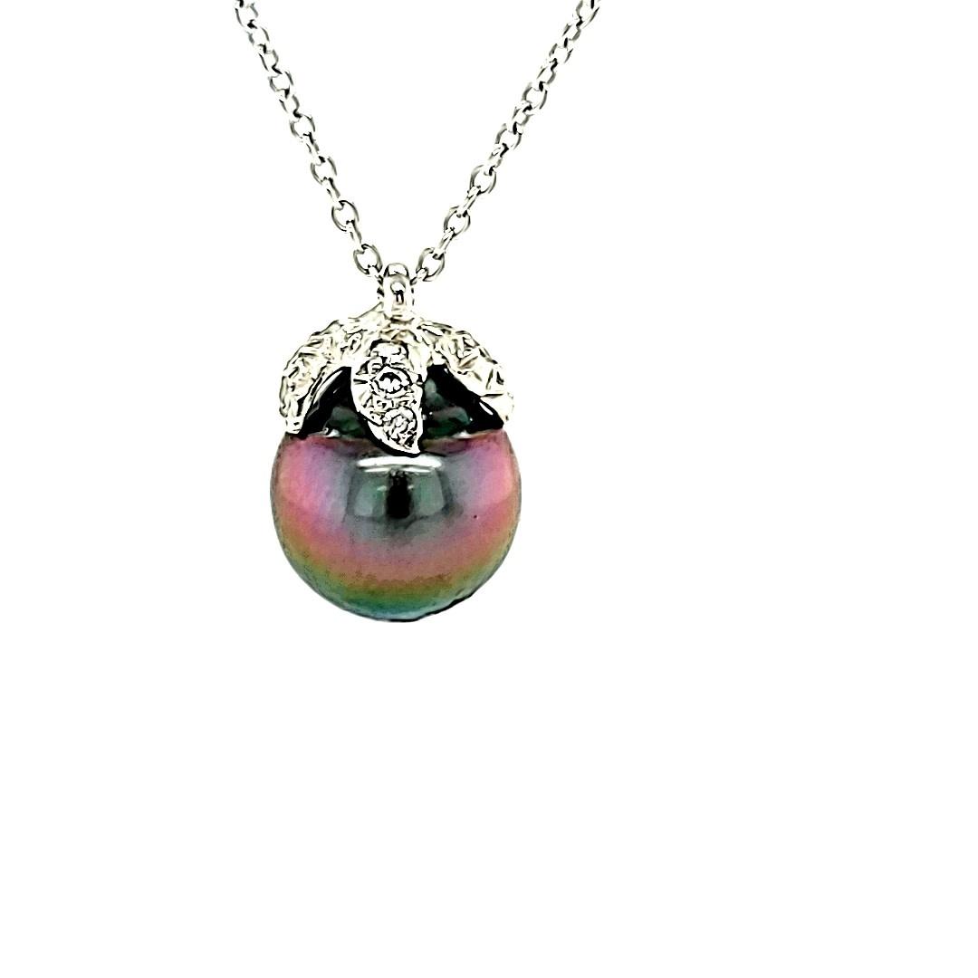 18KW Black Pearl Pendant
