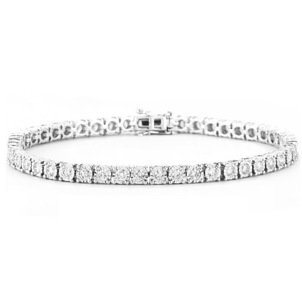 14kw 1.00CT Lab grown Diamond Tennis Bracelet