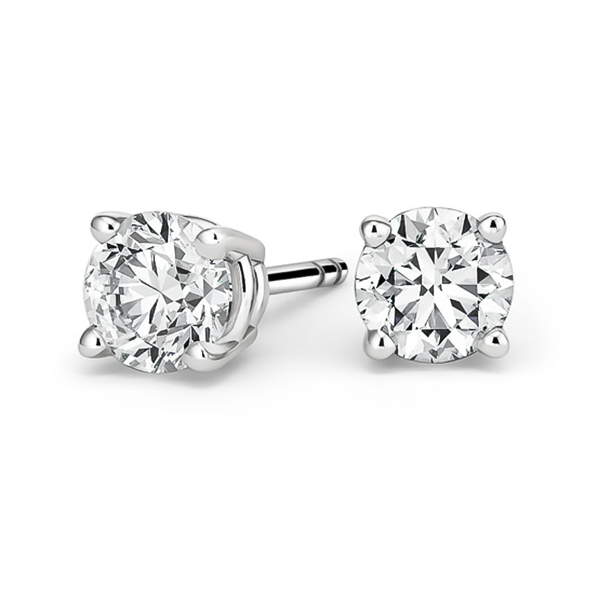 14KW Natural Diamond Studs .33 - .36cttw