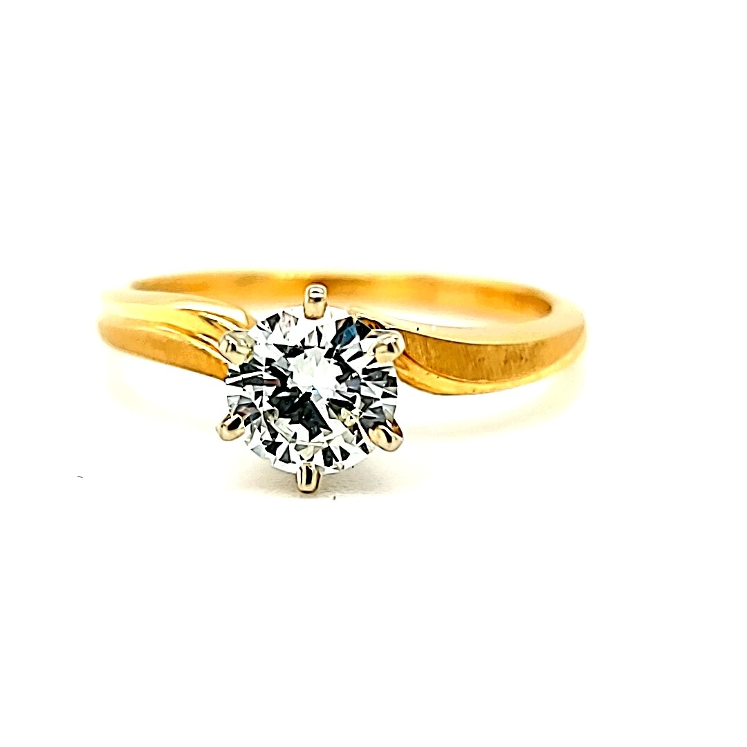 14KY .61CT Solitaire I-SI1 Engagement Ring