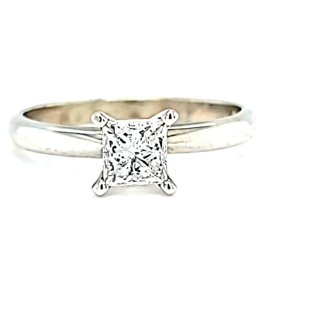 14KW .50CT I I1 Princess Cut Engagement Ring