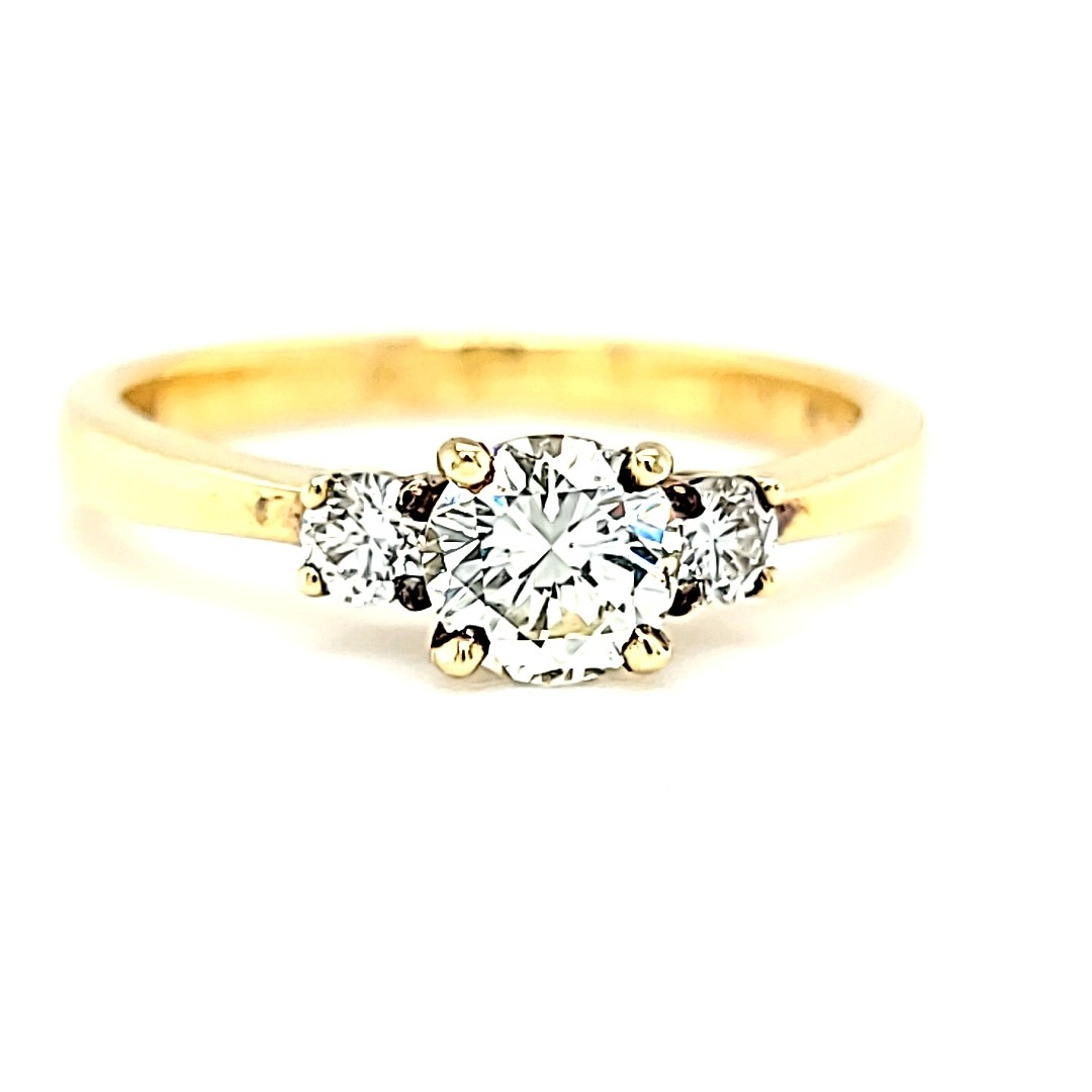 14KY Three Stone Engagement Ring