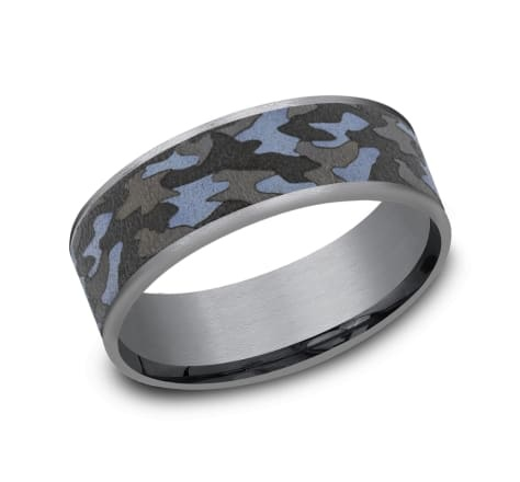 7.5mm Tantalum camouflage wedding band