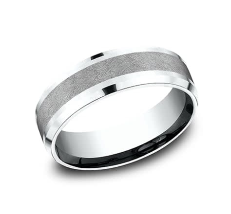 7mm Tantalum swirl center wedding band
