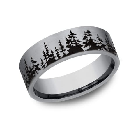 8mm Tantalum wrap around  tree wedding band