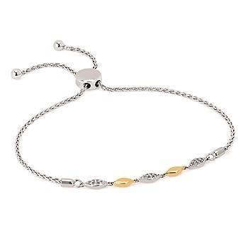 .925/14KY .13CTTW Diamond Bracelet