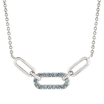 .925 Aquamarine Necklace
