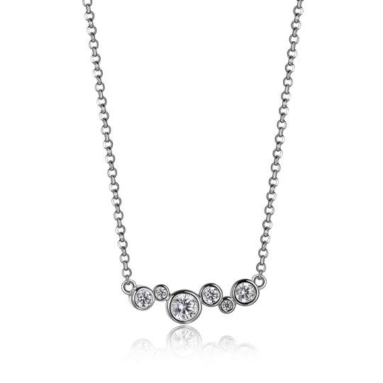 Elle .925 CZ Bubble Strand Necklace