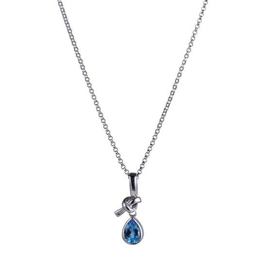 Elle .925 Swiss Blue Topaz Pear Pendant