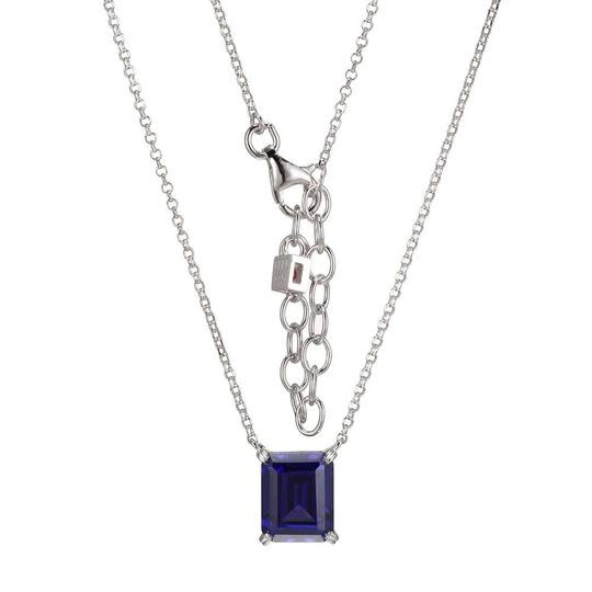 Elle .925 Solitaire Synthetic Tanzanite Pendant