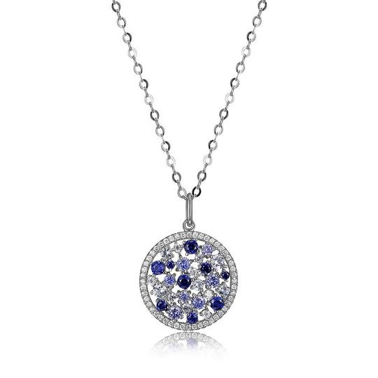 Elle .925 Synthetic Spinel, Corundum, and Tanzanite Pendant