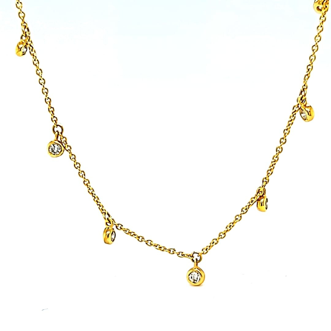 10KY Diamond Chain Necklace