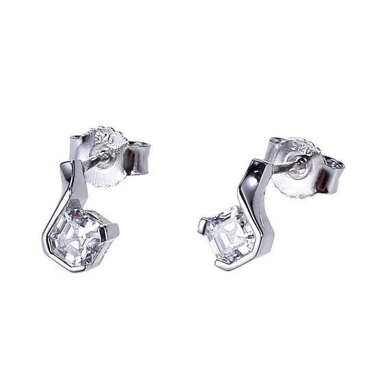 Elle .925 CZ Asscher Cut Earrings
