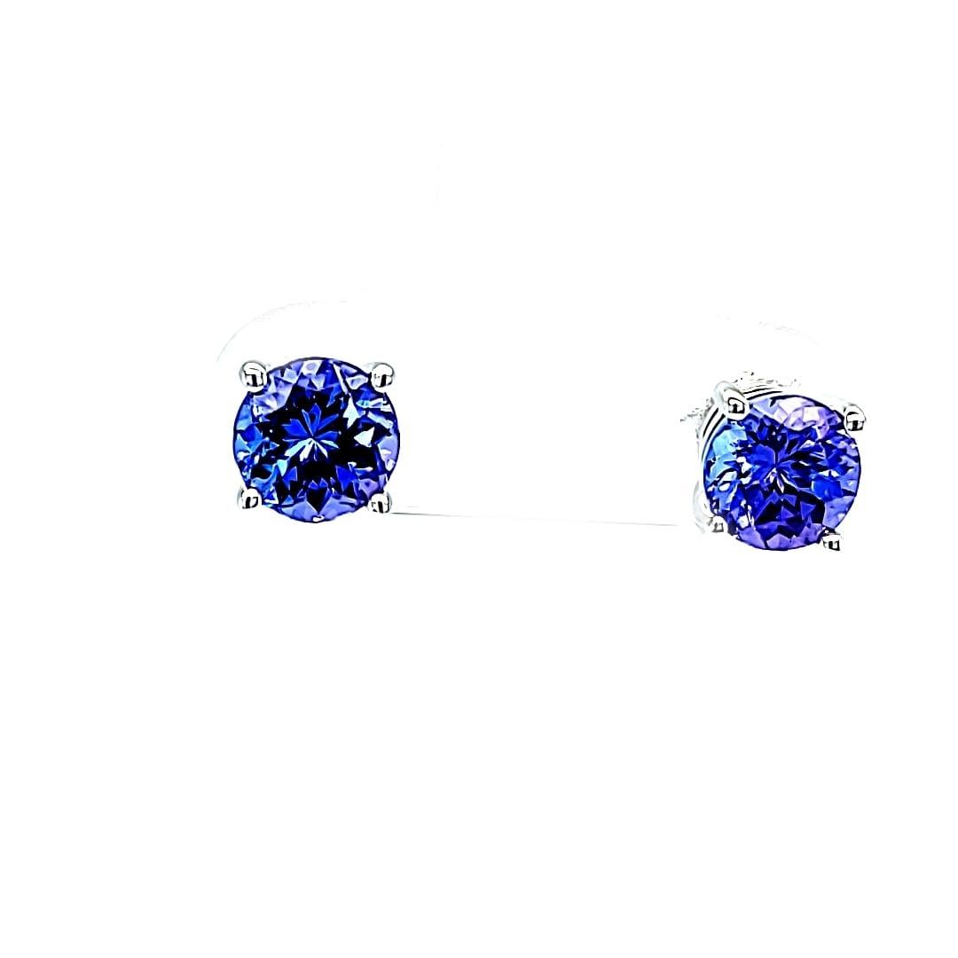 14KW Tanzanite Stud Earrings