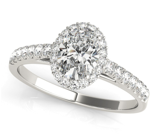14KW 1.53 G VS2 Lab Grown Engagement Ring OVM#50917