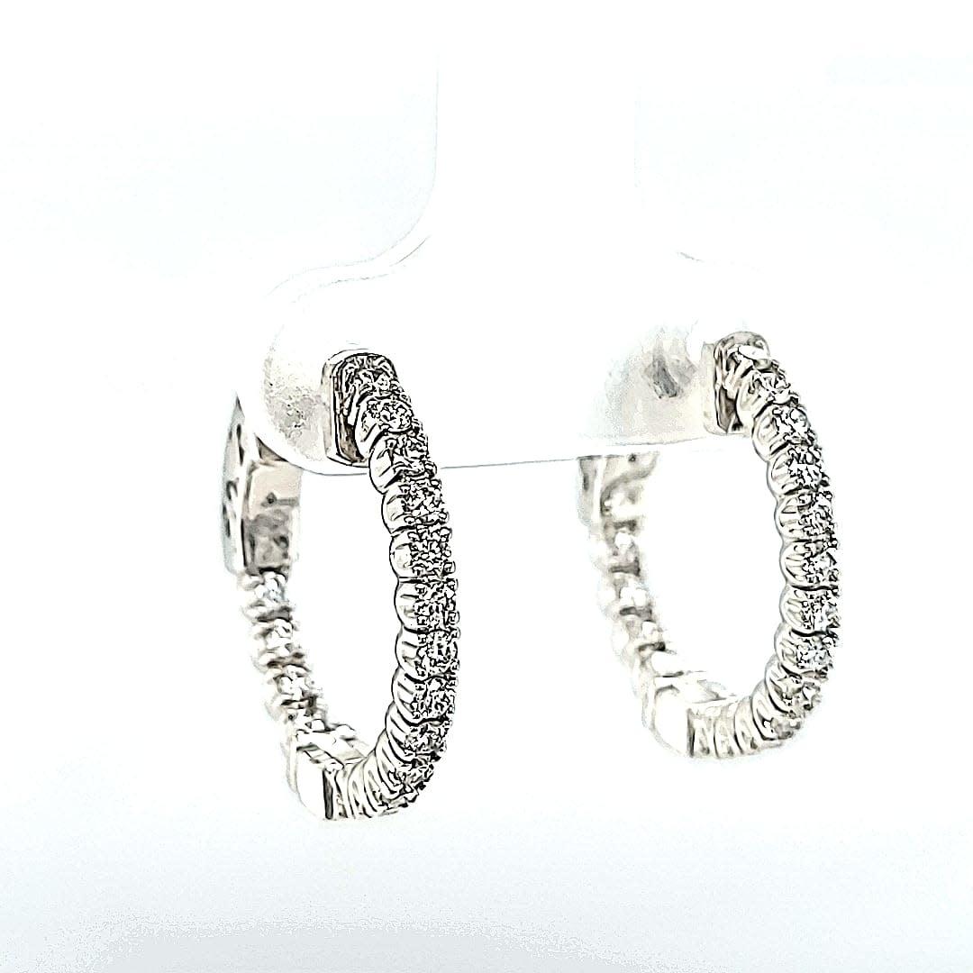 14KW 0.57TW Lab Grown Hoop Earrings