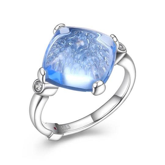 Elle .925 Syn. Blue Quartz Ring