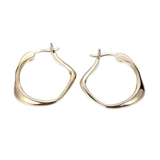 Elle .925 Yellow Plated Hoop Earrings