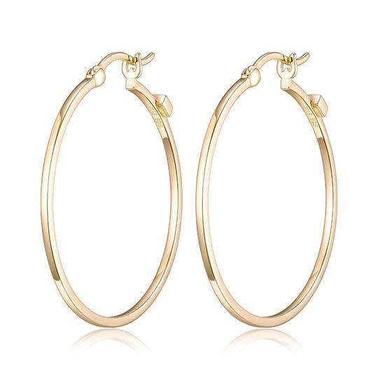 Elle .925 Yellow Plated Hoop Earrings