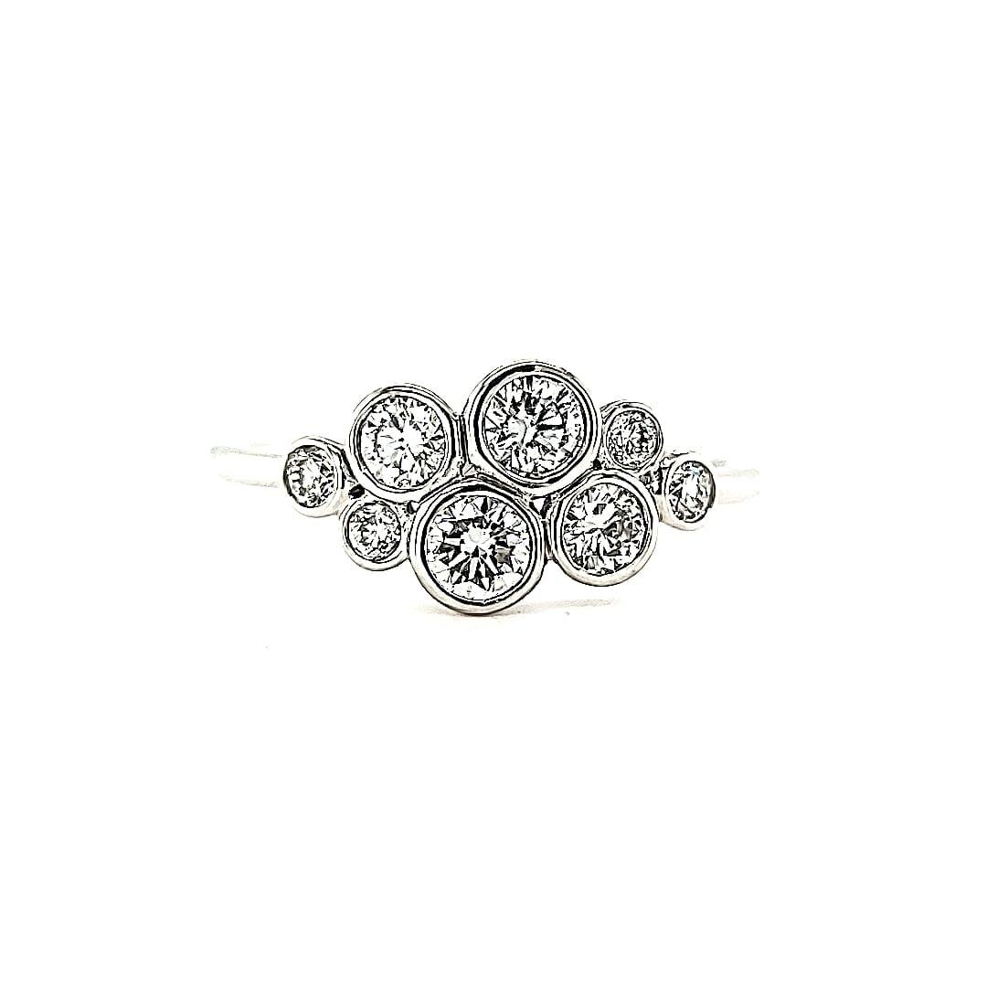 14KW LG Diamond Bubble Fashion Ring (Lab Grown Diamonds)