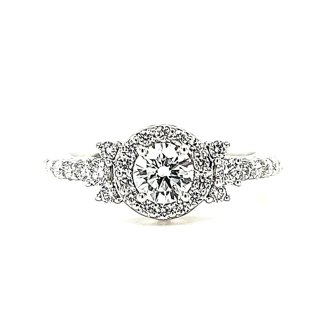14KW LG Diamond Engagement Ring 7/8cttw