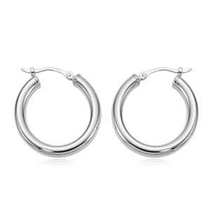 Carla .925 Tube Hoop Earrings