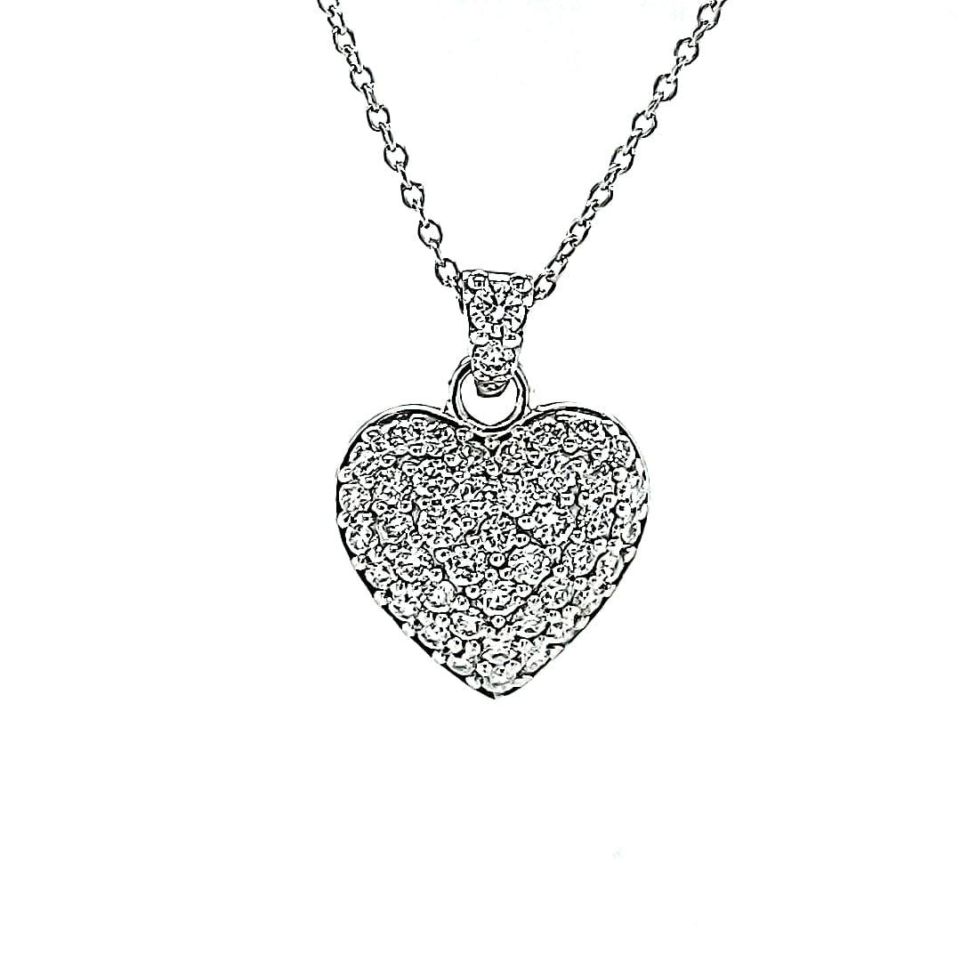 14KW 0.54TW LG Diamond Heart Pendant (E-F VS-SI)