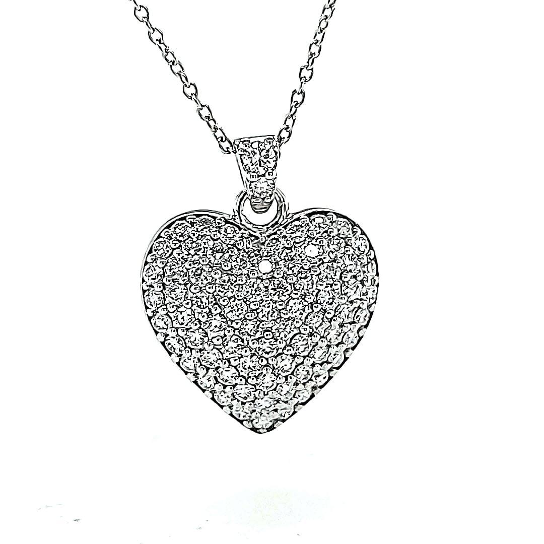 14KW 0.81TW LG Diamond Heart Pendant (E-F VS-SI)