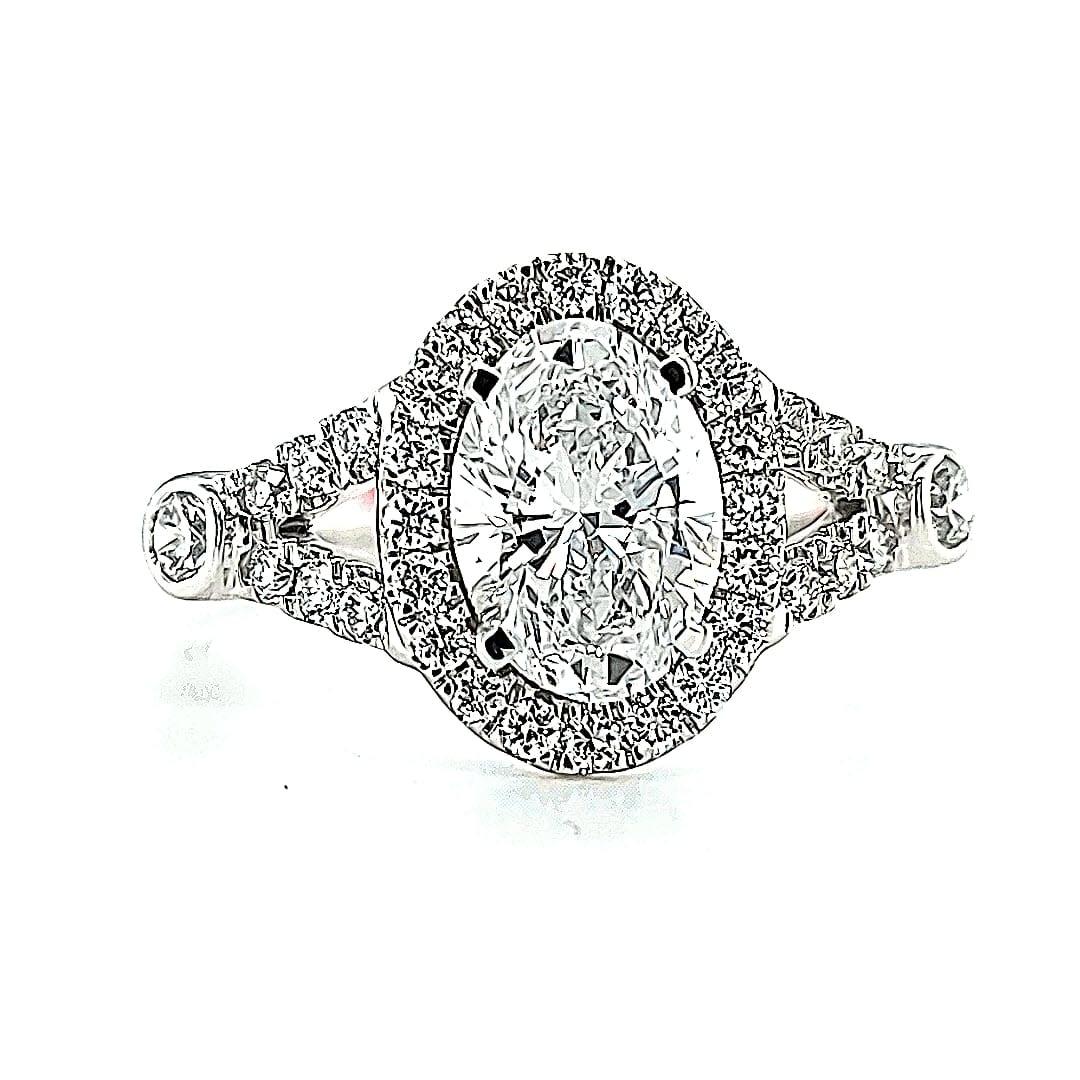 14KW 1.68TW LG Diamond Engagement Ring