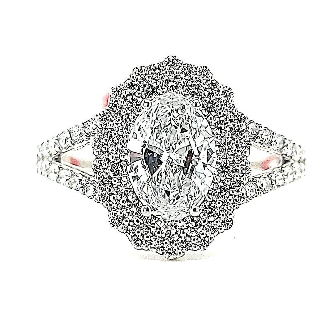 14KW 1.82TW LG Diamond Engagement Ring