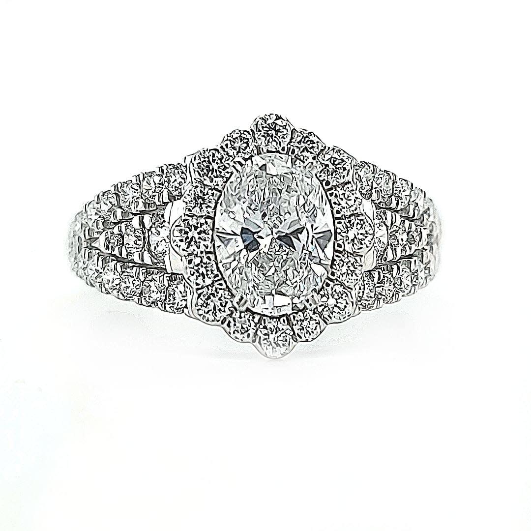 C 14KW 1.85TW LG Diamond Engagement Ring