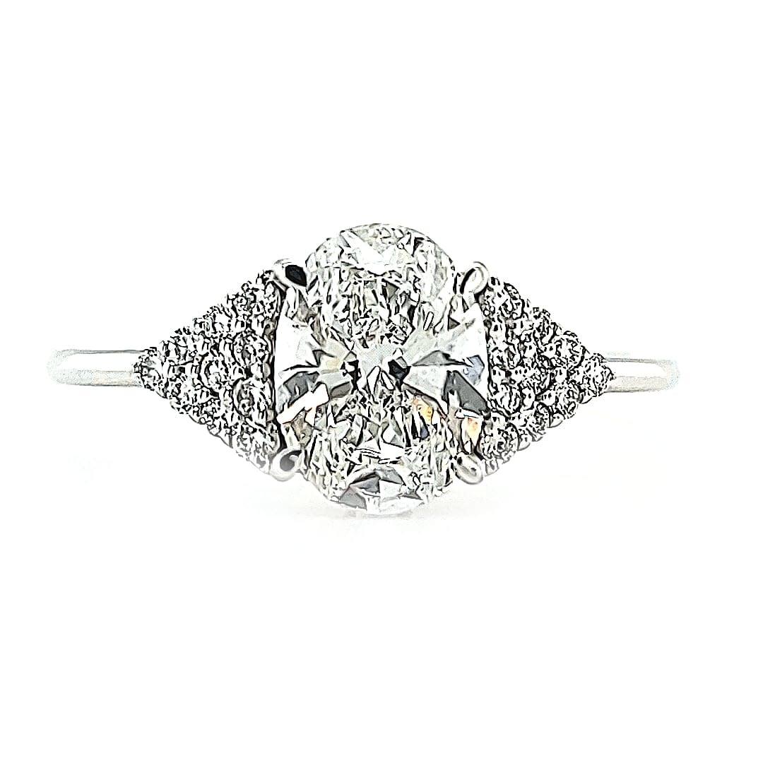B 14KW 1.30TW LG Diamond Engagement Ring