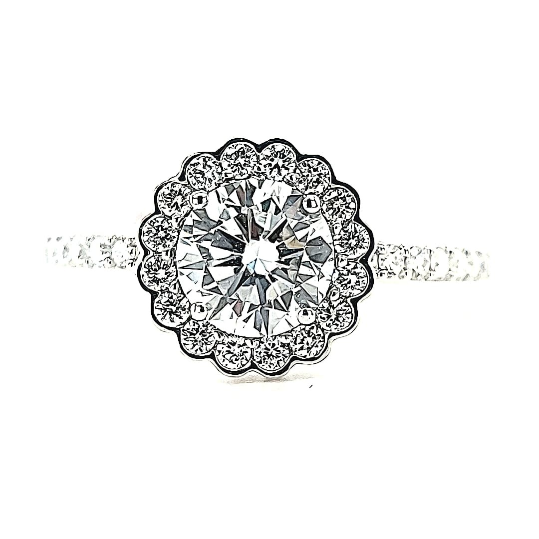 E 14KW 1.45TW LG Diamond Engagement Ring